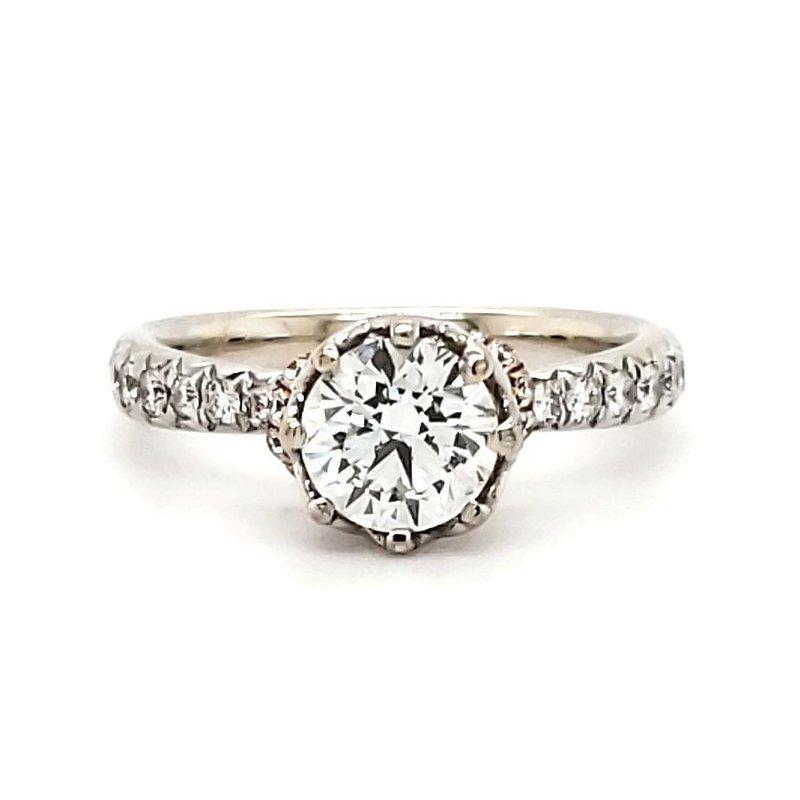 Sartor Hamann Bridal Engagement Ring - Lab Created Center