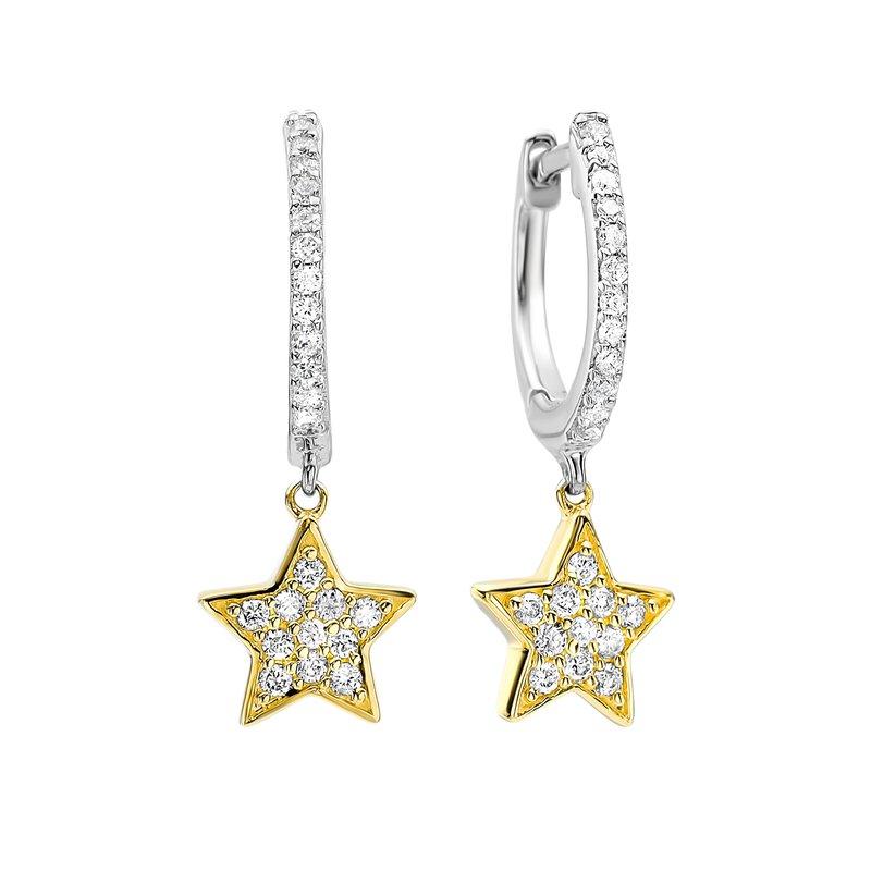 Sartor Hamann Signature Diamond Star Drop Earrings