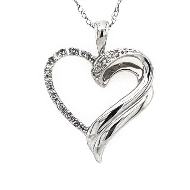 Estate Collection Diamond Heart Pendant