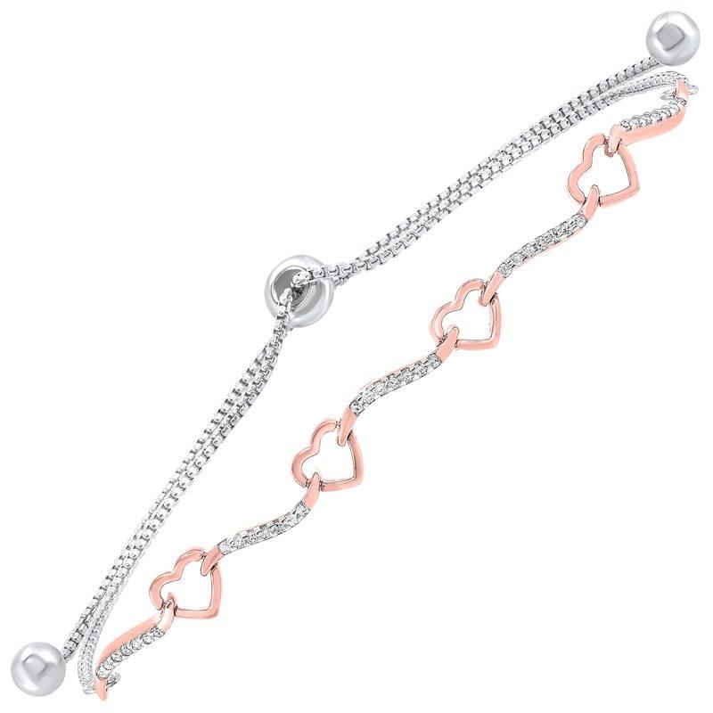 Sartor Hamann Signature Sterling Silver Diamond Bracelet
