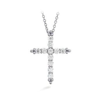 Hearts on Fire Divine Graceful Cross Pendant