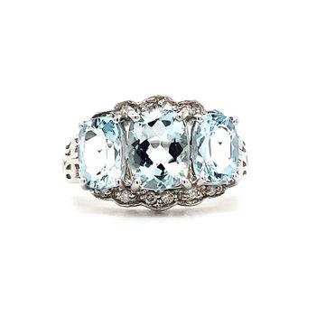 Aquamarine Fashion Ring