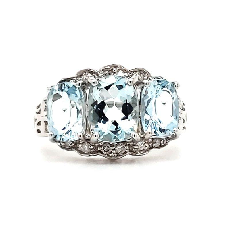 Estate Collection Aquamarine Fashion Ring