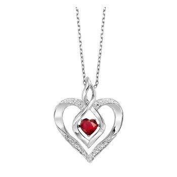 Birthstone Heart Pendant