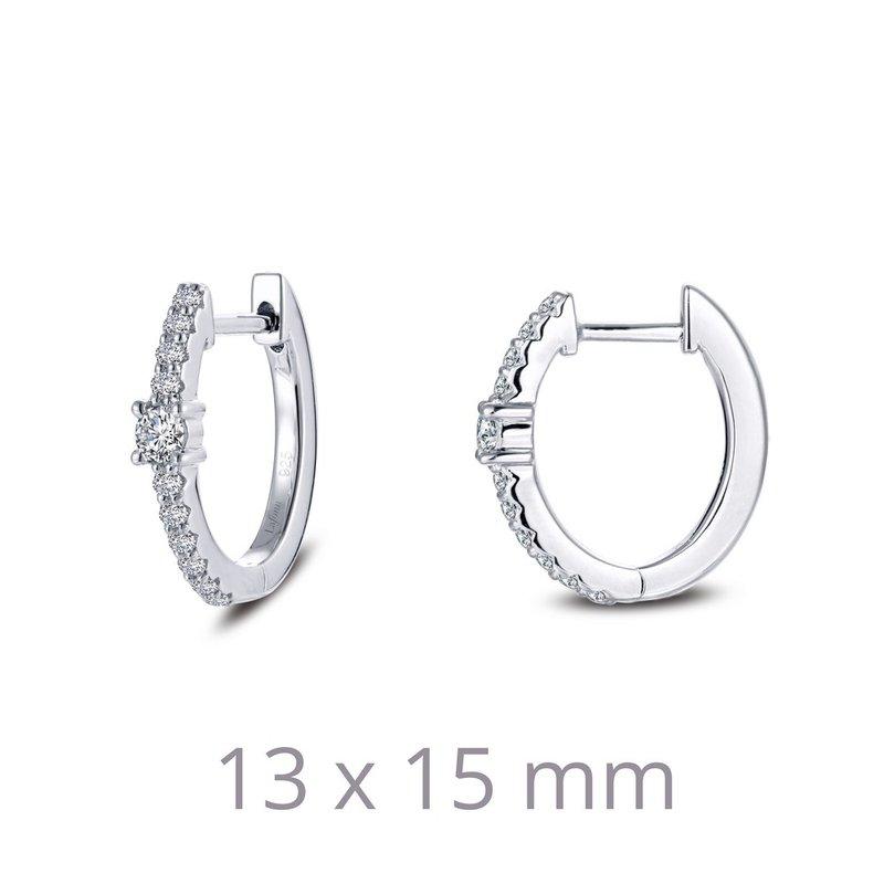Sartor Hamann Signature Lafonn Sterling Silver Hoop Earrings
