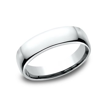Euro Comfort Fit Wedding Band 5.5mm White Gold