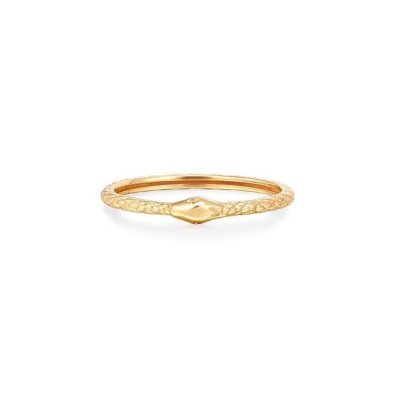 Aurelie Gi Medusa Snake Stackable Ring