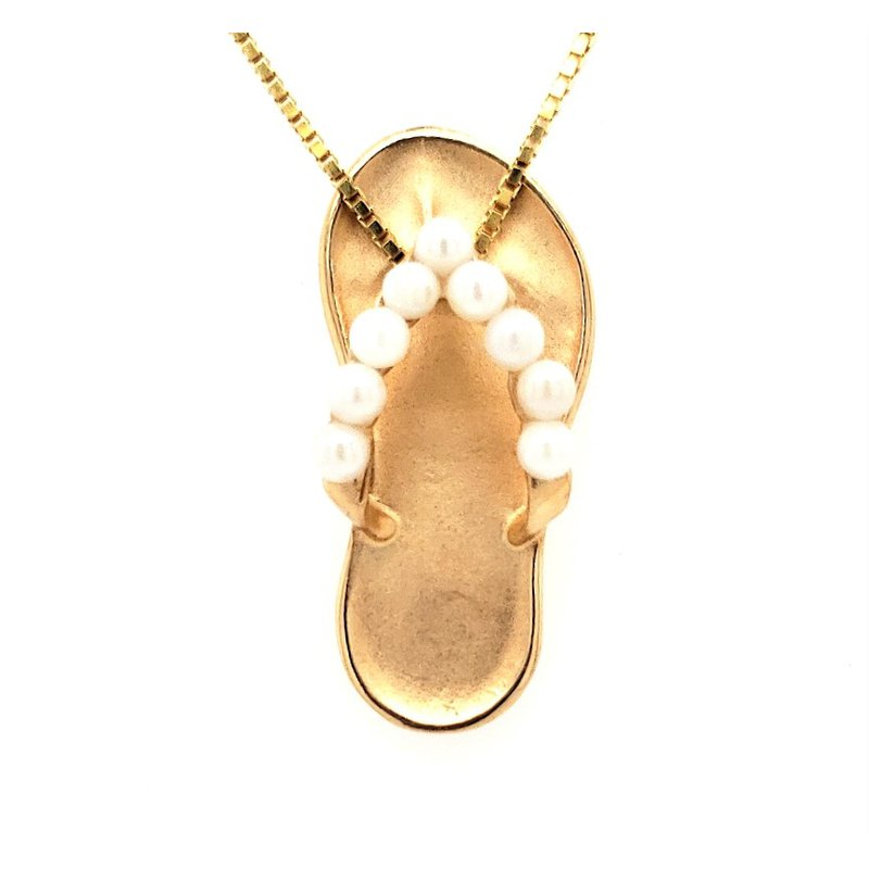 Estate Collection Pearl Flip Flop Pendant