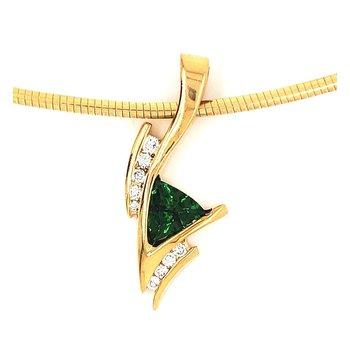 Green Tourmaline Slide Pendant