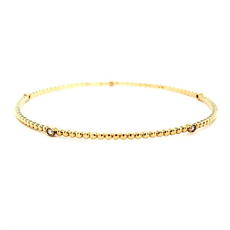 Sartor Hamann Closeouts Yellow Gold Stackable Diamond Bangle Bracelet