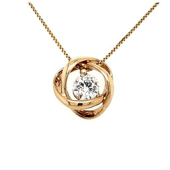 1/3 CT Time & Eternity Diamond Pendant