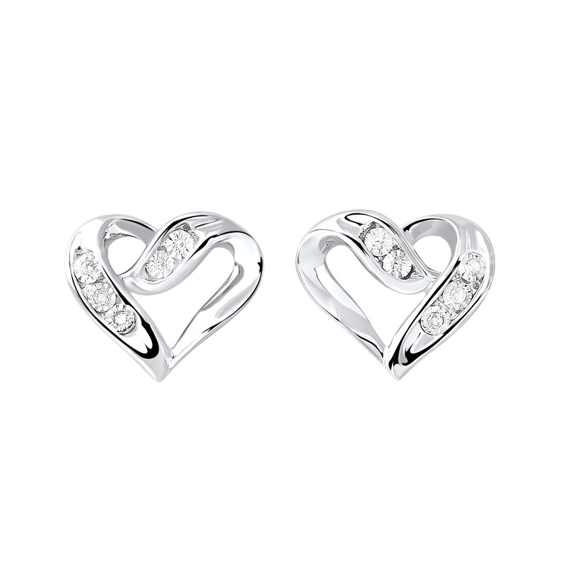 Sartor Hamann Signature Diamond Heart Earrings