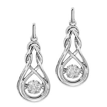 Silver Rhythm of Love Earrings
