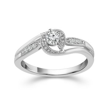 Petite Engagement or Promise Ring