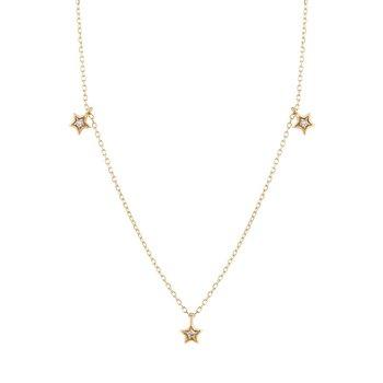 Lyra Triple Diamond Star Necklace