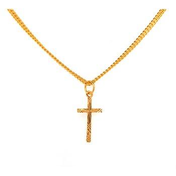 22K Gold Cross Pendant