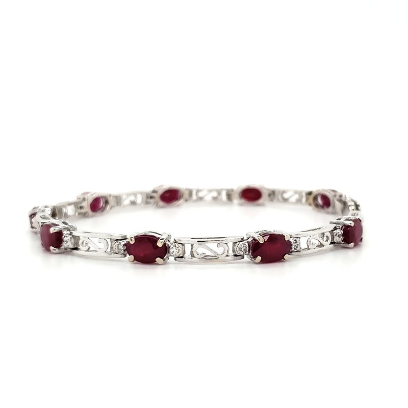 Estate Collection Ruby and Diamond Bracelet