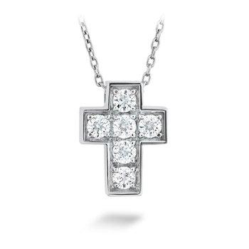 Hearts on Fire Divine Mini Cross Pendant