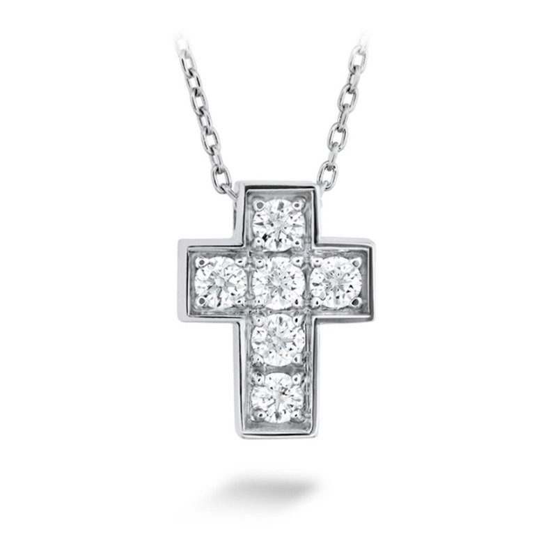 Sartor Hamann Signature Hearts on Fire Divine Mini Cross Pendant