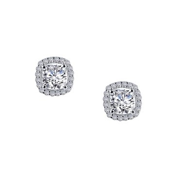 Lafonn Sterling Silver Halo Stud Earrings