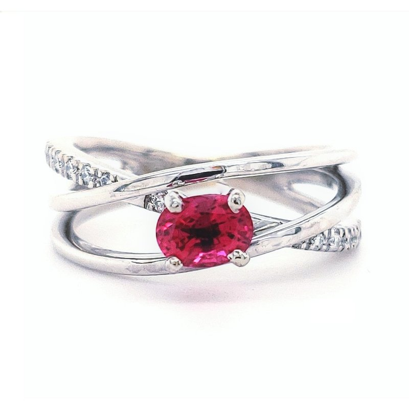 Estate Collection Spinel and Diamond Ring