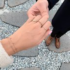 Aurelie Gi Lyra Triple Diamond Star Bracelet