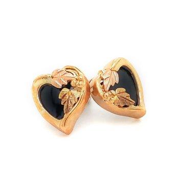 Black Hills Gold Heart Stud Earrings