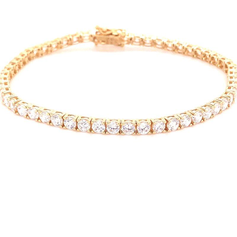 Estate Collection CZ and Gold Tennis Bracelet