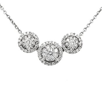 Triple Halo Diamond Pendant