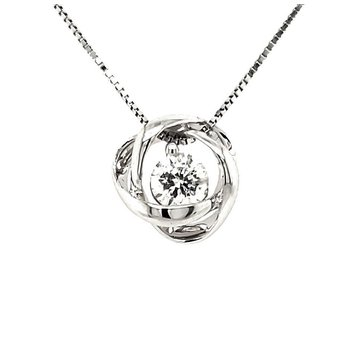 1/4 CT Time & Eternity Diamond Pendant