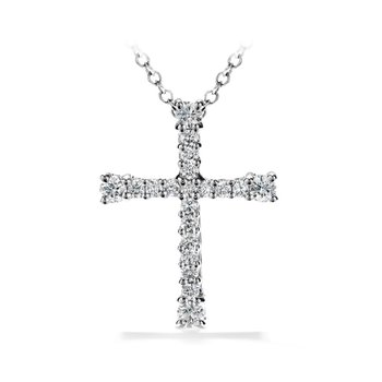 Hearts on Fire Divine Cross Pendant in 2 Carat Weights