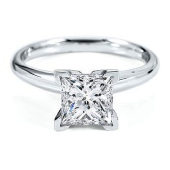 Princess Solitaires - Classic Quality 1/3 CT to 1 CT