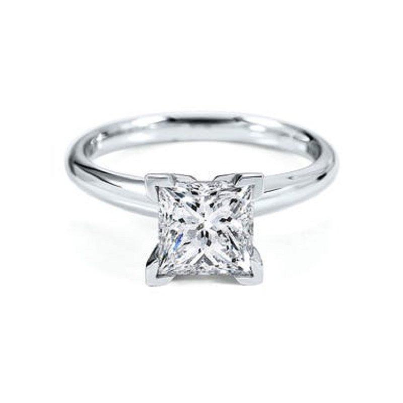 Sartor Hamann Bridal Princess Solitaires - Classic Quality 1/3 CT to 1 CT