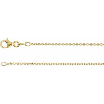 "18"" Gold Plated Sterling Silver Curb Chain"