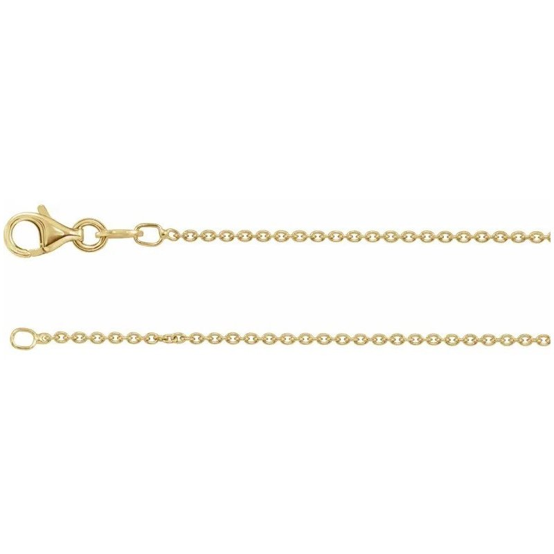 """Sartor Hamann Signature 18"""" Gold Plated Sterling Silver Curb Chain"""