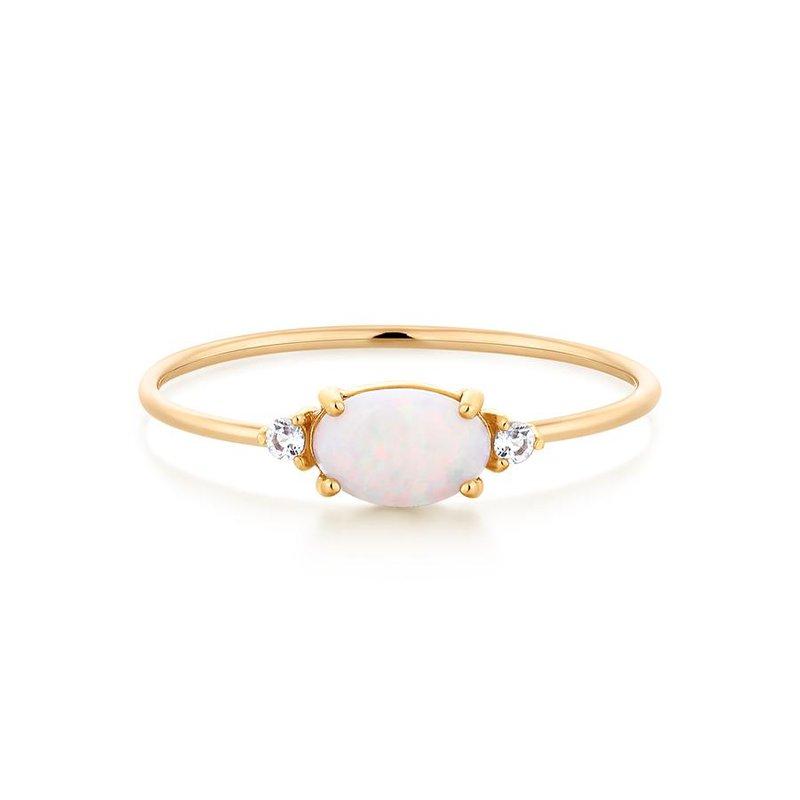 Aurelie Gi Rhea Opal and  Topaz  Ring