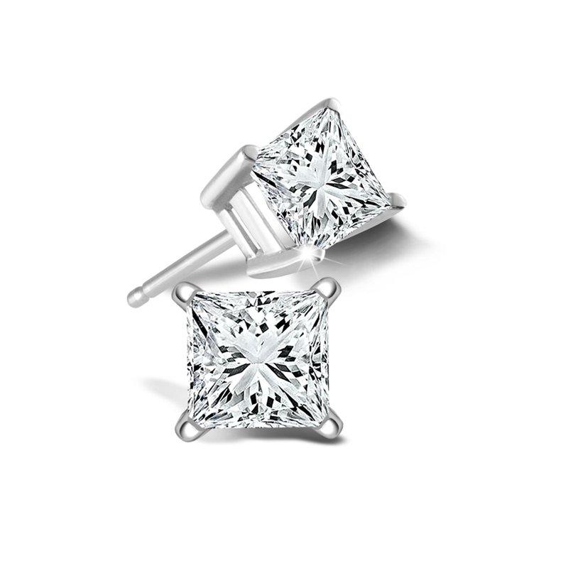 Sartor Hamann Signature 1.45 CT T.W. Princess Cut Diamond Stud Earrings