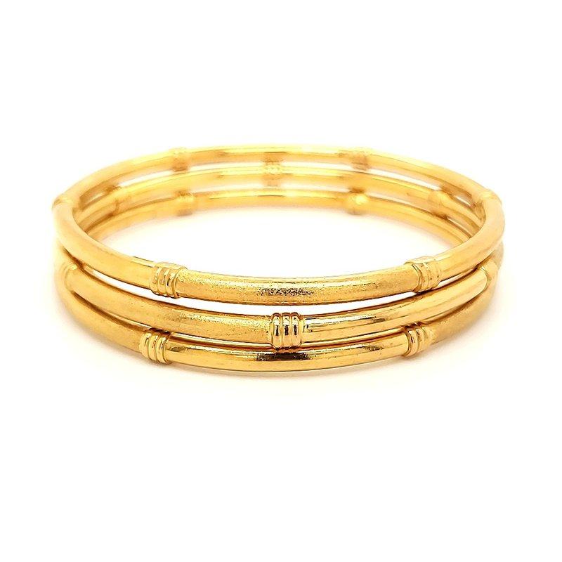 Estate Collection 22K Gold Set of 3 Bangle Bracelets