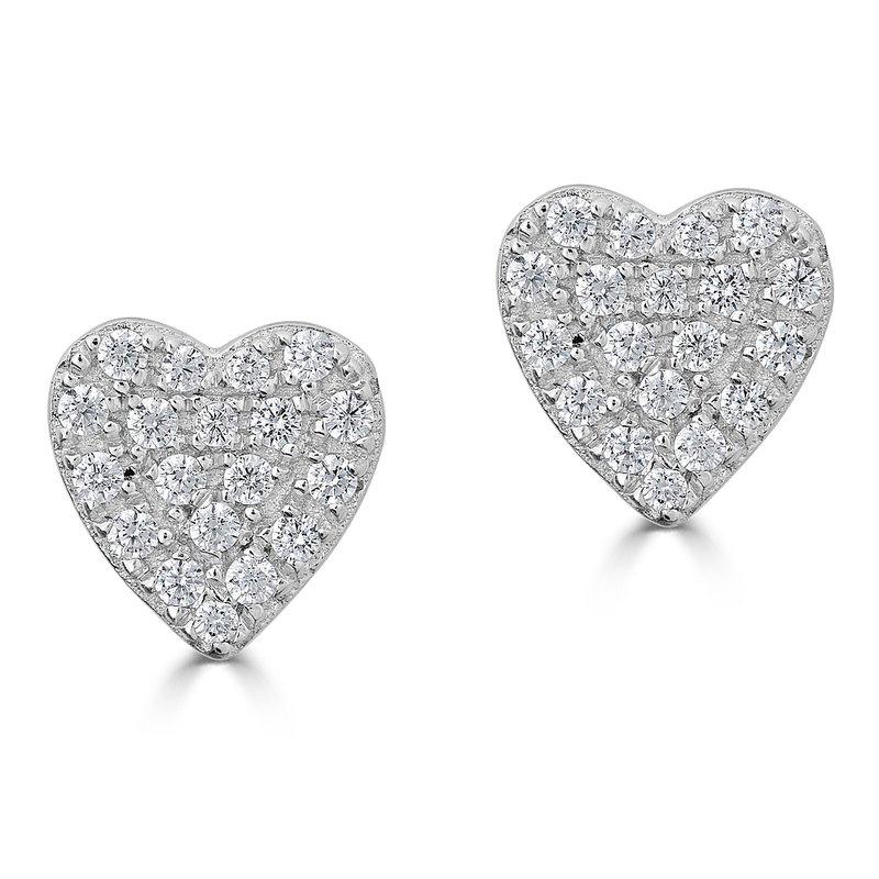 Sartor Hamann Signature Diamond Heart Earrings