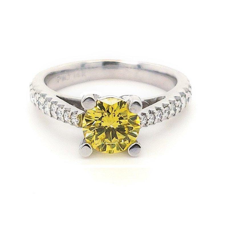Sartor Hamann Bridal Yellow Diamond Engagement Ring