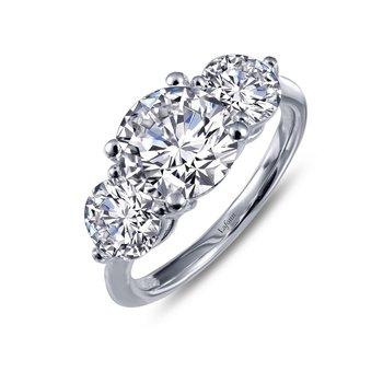 Lafonn Sterling Silver 3-Stone Ring