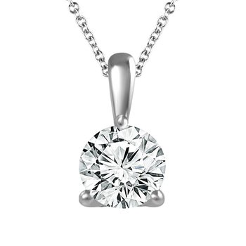 Diamond Solitaire Pendant - Classic Quality in 1/4 CT to 1 CT