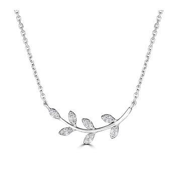 Diamond Leaf Pendant