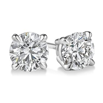 Diamond Stud Earrings - Superior Quality in White Gold 1/20 CT to 1 CT T.W.