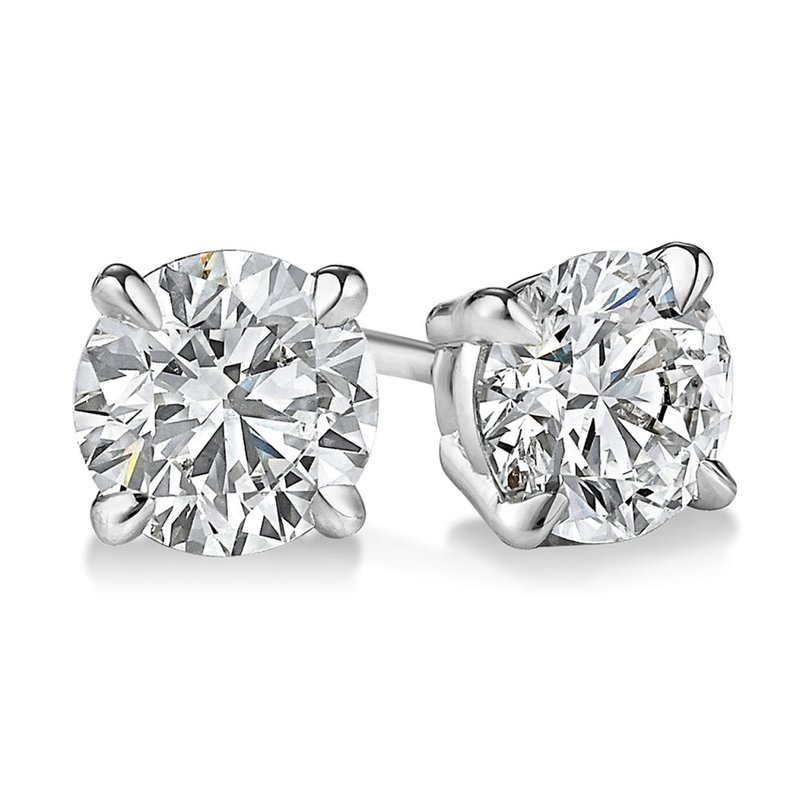 Sartor Hamann Signature Diamond Stud Earrings - Superior Quality in White Gold 1/20 CT to 1 CT T.W.