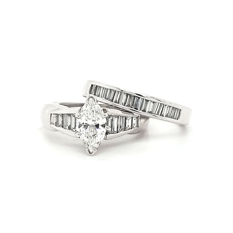 Estate Collection Baguette Wedding Band