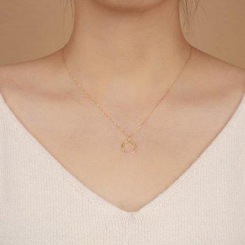 Gloria Diamond Arc Necklace