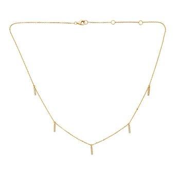 Diamond Stations Necklace