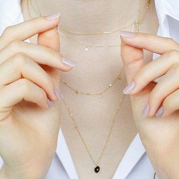 Lily Diamond Disc Necklace