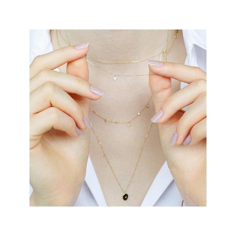Aurelie Gi Lily Diamond Disc Necklace
